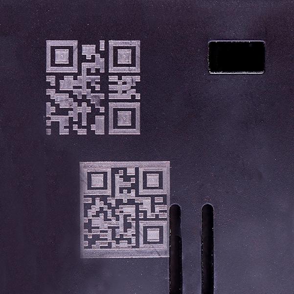 QR code on plastic