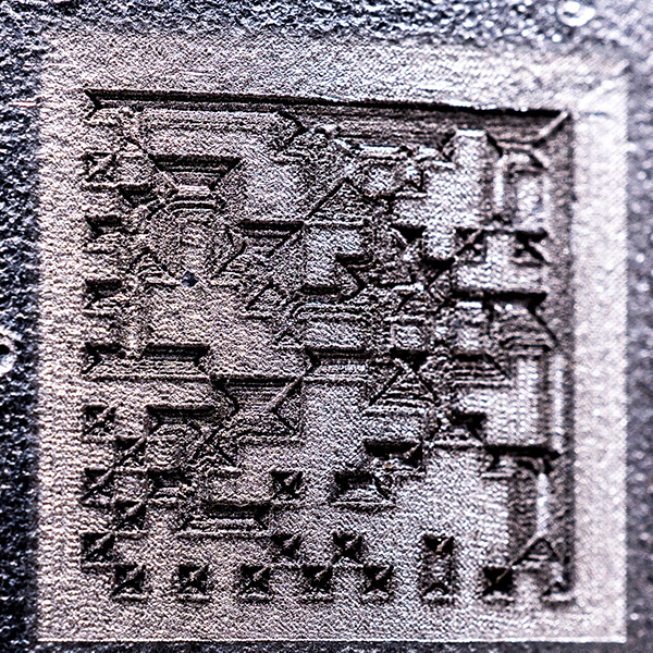 QR code  on aluminium
